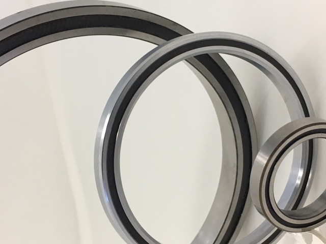 Group photo of slim section bearings.
